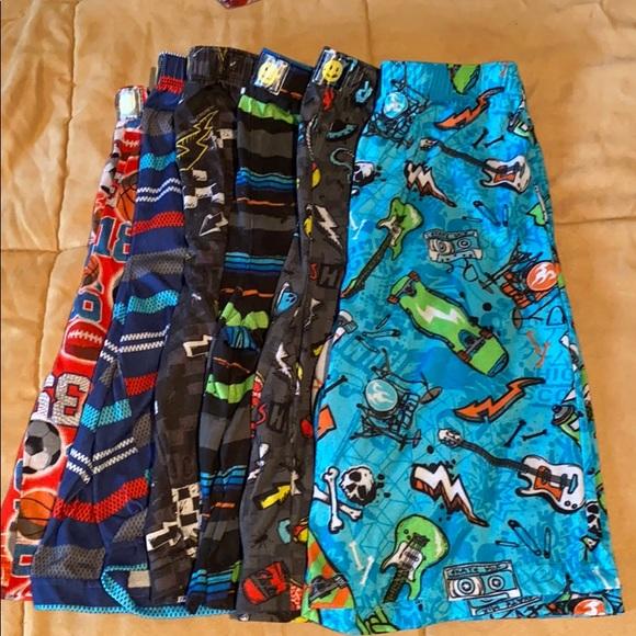 6 pair of boys pajama shorts